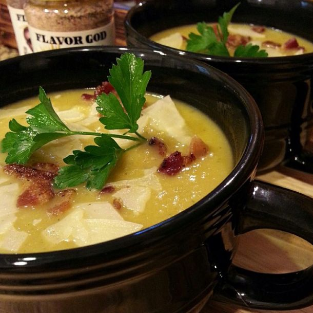 Spaghetti Squash Chicken Soup with bacon. http ...