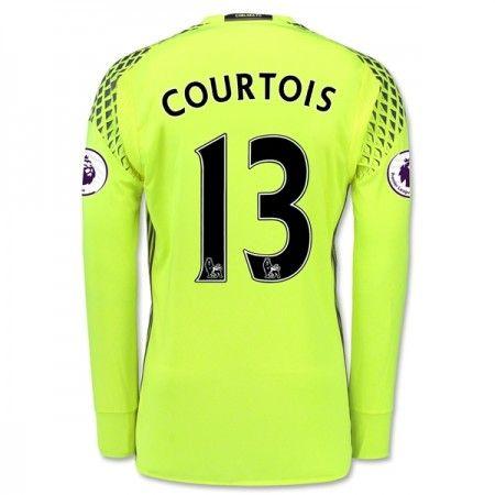 Chelsea 16-17 Målmand Thibaut #Courtois 13 Hjemmebanesæt Lange ærmer,245,14KR,shirtshopservice@gmail.com