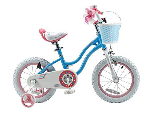 RoyalBaby Stargirl Girls Bike with Training Wheels and Basket Perfect Gift for Kids. 12 Inch 14 Inch 16 Inch Blue / Pink