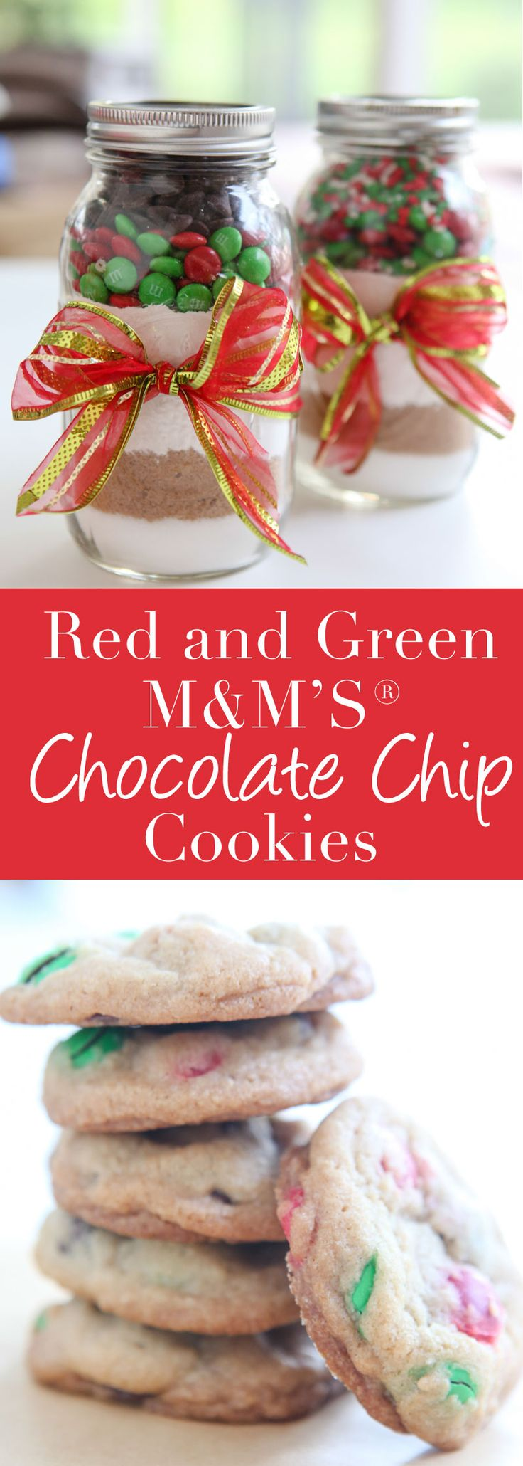 {Gift Idea} M&M'S®️️ Chocolate Chip Cookie Jar Mix and Free Printables #printables #gift #holiday #christmas #cookies #SimplySweetness #CollectiveBias #ad