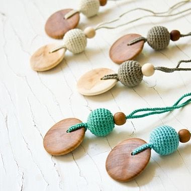 Which do you love the most. We have a few faves. FrejaToys natural silk and wood necklaces - perfect for parents and their little ones.