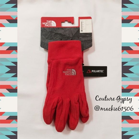 SALENWT North Face Women's Fleece Gloves L New with tags, women's north face orange fleece gloves, size large.  So warm and cozy!!! North Face Accessories Gloves & Mittens