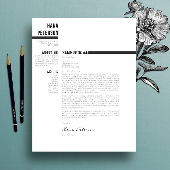 Resume Template / CV + Cover Letter  @Graphicsauthor