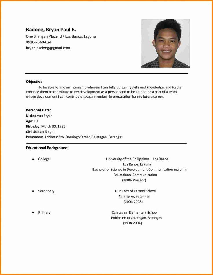 Resume Sample Format For Job Application Best Of Template ...