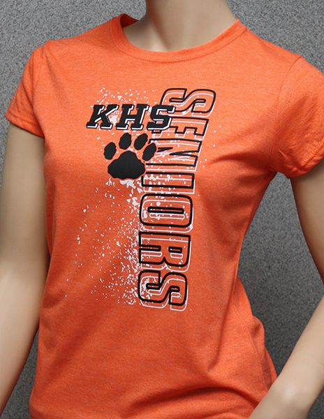 School spirit t-shirt design for seniors including paw print; QYT-168 More ideas at easyprints.com [Spirit Wear]