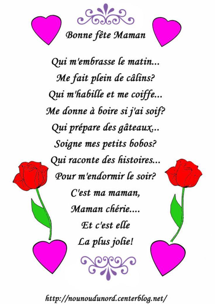 poemes fete des mere maman