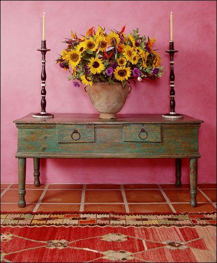 Ann James design - Hacienda..It had me.at.bubblegum pink walls:-)