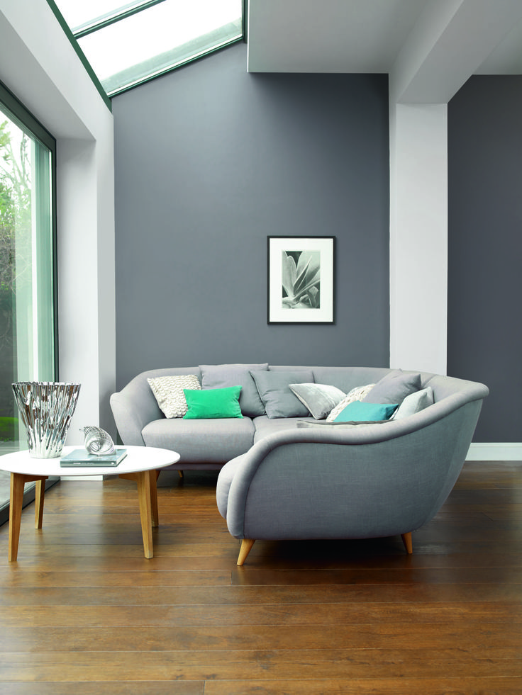 5 New Ways To Try Decorating With Grey From The Experts At Dulux For More InteriorsHome InteriorsGrey LoungeGrey Living RoomsGrey