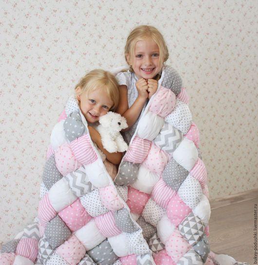 Пледы и одеяла ручной работы. Бомбон одеяло. Tirlika_textile. Ярмарка Мастеров. Одеяло пэчворк, одеяло лоскутное детское, эслон