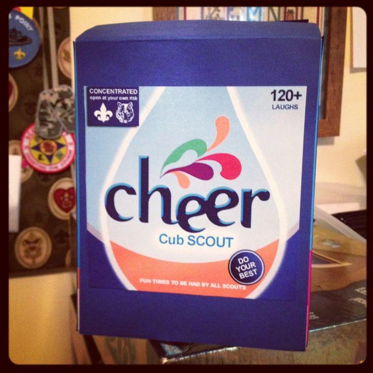 Cub Scout Cheer Box