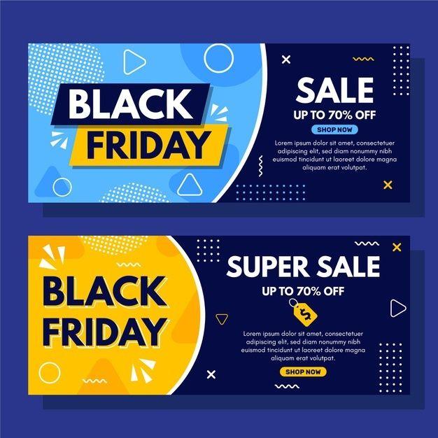 Download Super Sale Dotted Black Friday Banner Template For Free In 2020 Black Friday Banner Banner Template Cyber Monday Banner