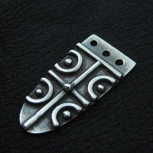Silver Anglo-Saxon strap end by Sulik on Etsy