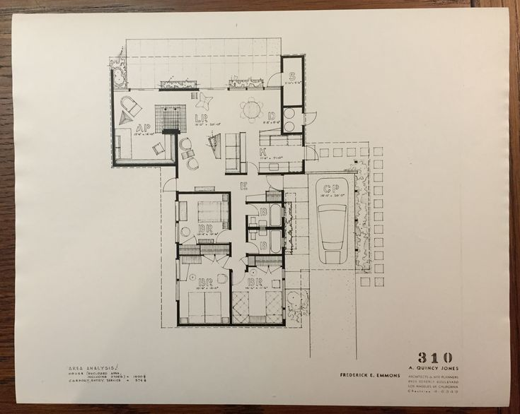 Eichler Homes Floor Plan 316 Original At Ucla Library