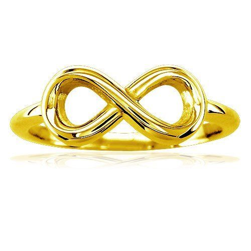 Flowing Infinity Ring, 14mmx7mm in 10k Gold Infinity Jewelry. $169.95