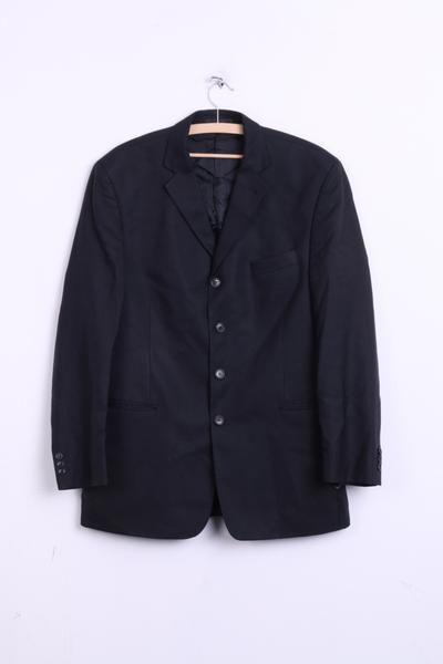 Alessandro Mens 42 M Blazer Jacket Navy Wool Striped Italy - RetrospectClothes