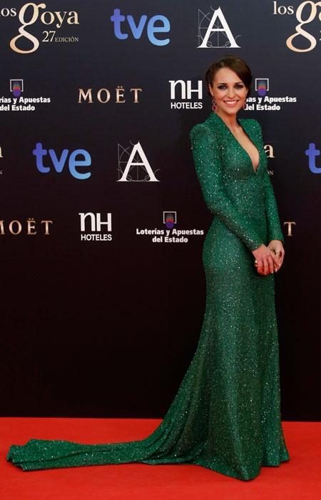 Goya Awards: Elegance and good taste on the red carpet. The actress Blanca Suárez. Learn More: http://www.wapa.pe/moda/2013-02-17-premios-goya-elegancia-y-buen-gusto-en-la-alfombra-roja  #Goya2013 #GoyaAwards