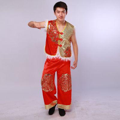 新しいメンズモダンダンスの衣装 北部陝西省人民民族衣装 お祝いの衣装