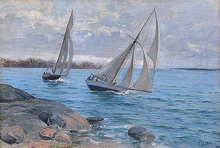 Elin Kleopatra Danielson-Gambogi (3 September 1861 – 31 December 1919), Finnish painter. Bukowski, Helsinki - SAILING