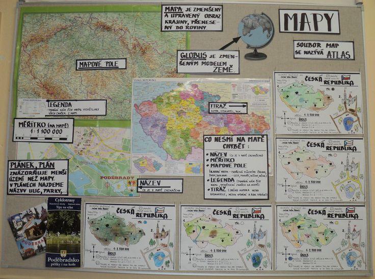 Máme rádi Česko - MAPY - k čemu slouží, co obsahují, barvy na mapách,....