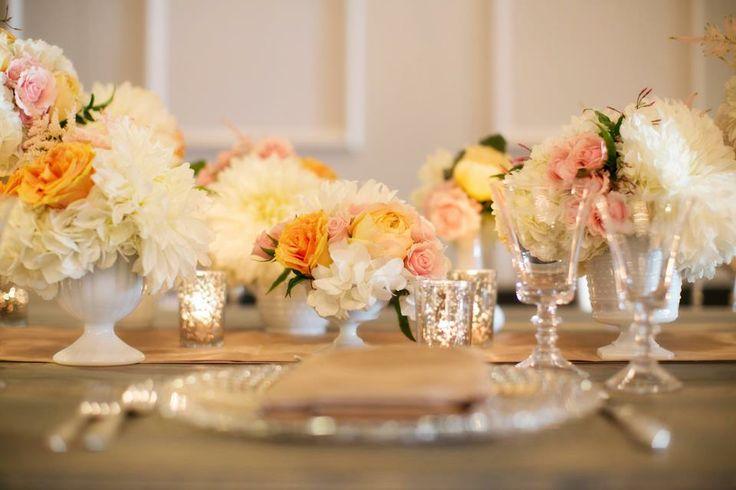 Colori pastello per allestimento tavoli nozze