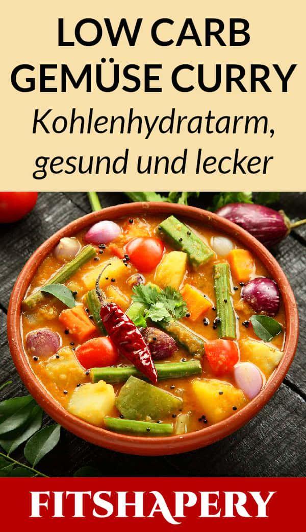 Low Carb Gemuse Curry Veganes Gericht Zum Abnehmen Curry Rezepte Low Carb Gerichte Vegetarisch