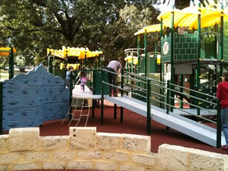 Hyde Park Perth - Kids Playground Close to Perth City. Find out how far this playground is from your current location and get a map to take you there with the Kids Around Perth app available from Google Play or the App Store