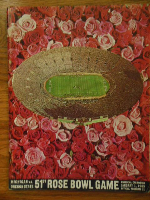 51st Rose Bowl Game, Official Program, Michigan Vs. Oregon State (1965) by No Author - Paperback - 1965 - from Garrison House Books IOBA and Biblio.com