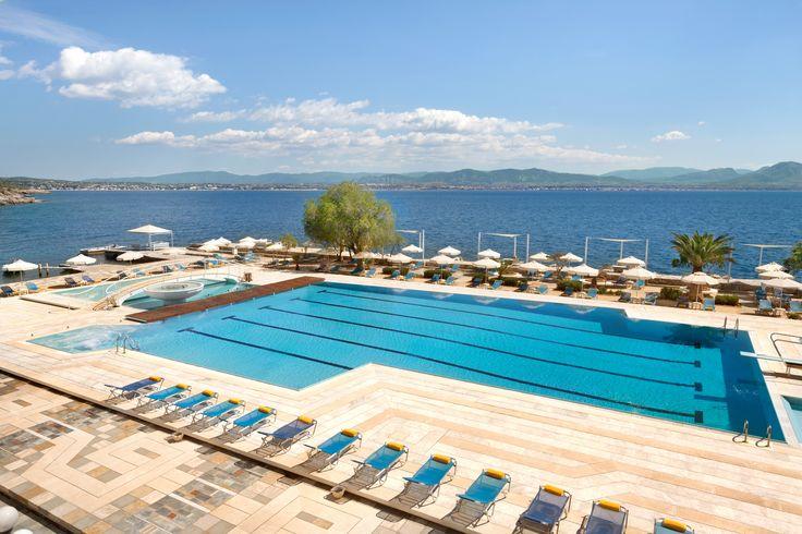 Experience the Autumn aura by the pool at Ramada Loutraki Poseidon Resort!