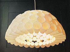 13 best recycle chandelier ideas images on pinterest night lamps plastic cup lamp by goldenpeacock find this pin and more on recycle chandelier ideas mozeypictures Image collections