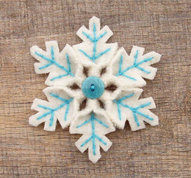 snowflakes! z vatových tamponů