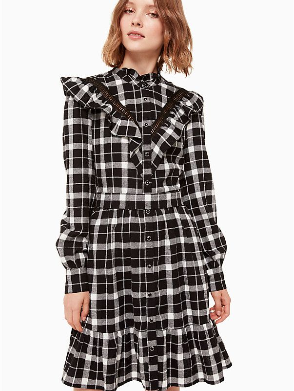 190b0ff501 Rustic plaid flannel dress in 2019