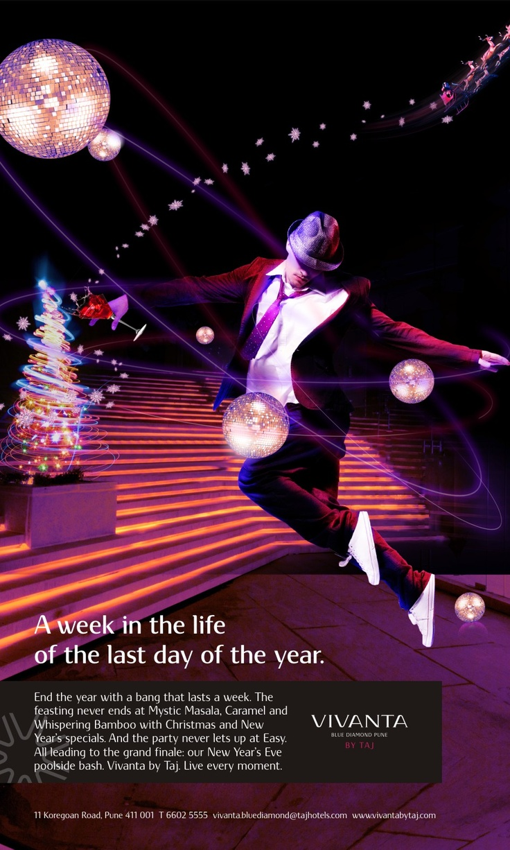 A print ad created for Christmas and New Year's Eve ...