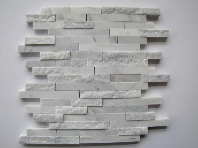 rough and polished mosaic marble tile.  back splash idea