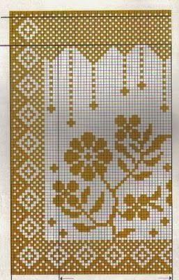Cortinas em Crochê com Gráfico