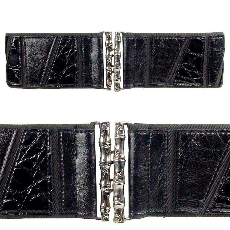 Black Adjustable Belt <br /> <br />Size: 77cm