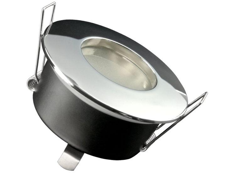 RW-1 Feuchtraum LED-Einbaustrahler Bad Dusche chrom, IP65 4,3W warm weiß, GU10 dimmbar MASTER LEDspot MV von PHILIPS