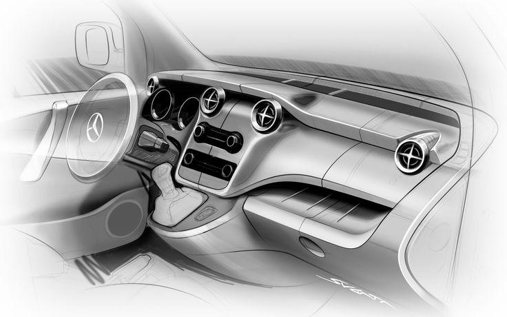 Mercedes-Benz Citan Concept interior design sketch