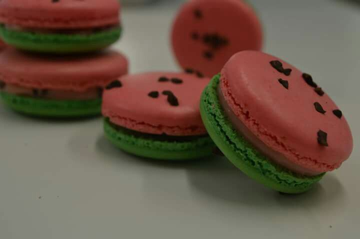 macarons watermelon, delicious and cute. love it