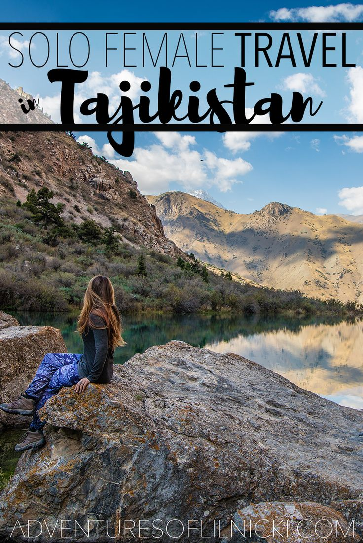 Everything you need to know to travel through Tajikistan as a solo female!  Pictured: Fann Mountains, Sughd Province