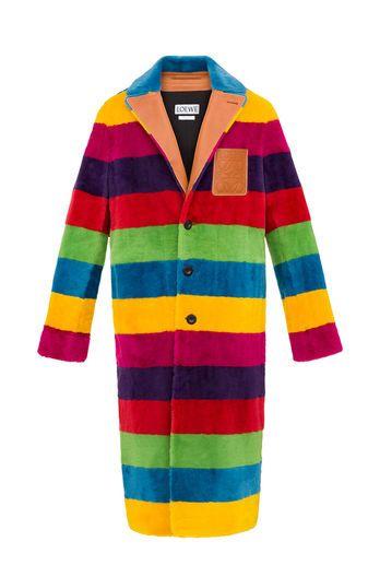 LOEWE Rainbow Coat Multicolour