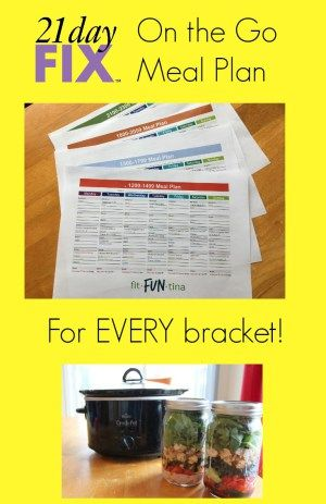 Here is a 21 Day Fix Meal Plan designed for those busy moms (and dads!) on the go! Featuring crockpots and mason jar salads, you'll be spending less time in the kitchen. The meal plan is customized for every bracket - 1200 calories, 1500 calories, 1800 calories, and 2100 calories.