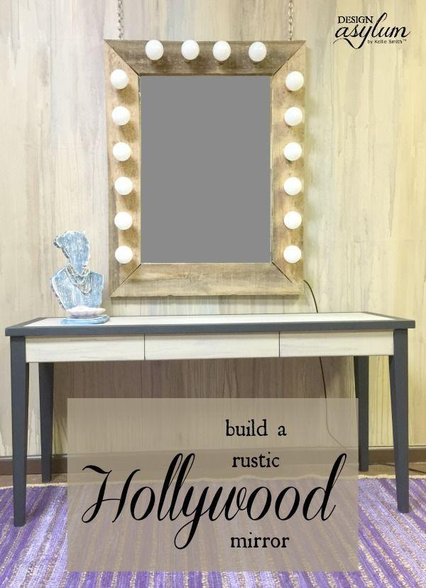 DIY: Rustic Hollywood Mirror via Design Asylum Blog
