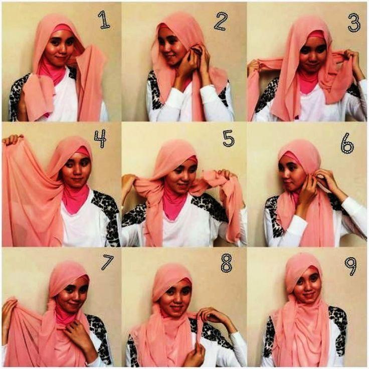 tutorial hijab pashmina segi empat