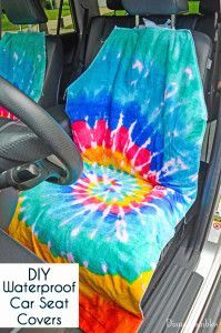 DIY Waterproof Seat Cover Tutorial - Need to protect your car seats from wet or dirty summer bodies? Make this easy waterproof seat cover to protect your car's upholstery.