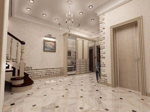 холл-лестница в частном доме. Коридор; Холл