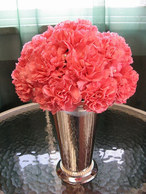 Carnation Centerpiece by Westosha Floral, via Flickr