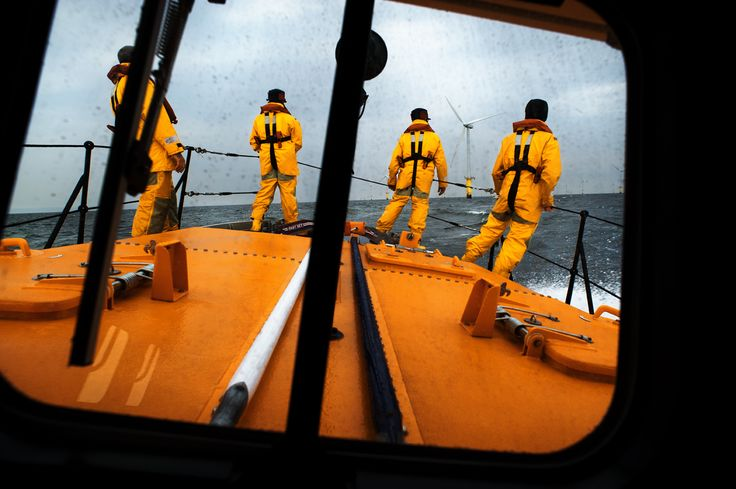The view from the wheelhouse of the Hoylake all-weather lifeboat as the crew search for a casulaty in the water. ©Nigel Millard/RNLI
