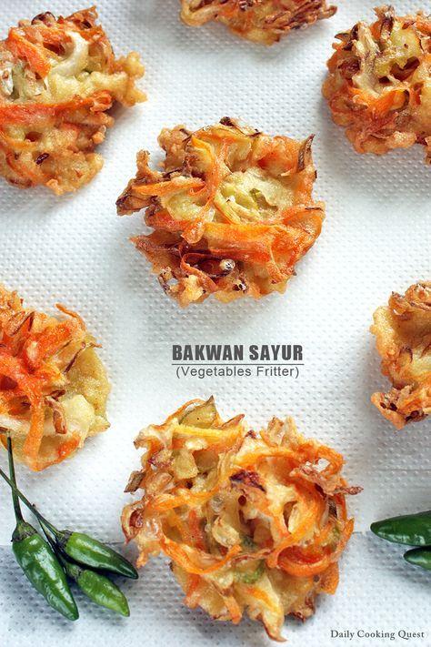 bakwan sayur - vegetable fritters - #indonesian #vegetarian