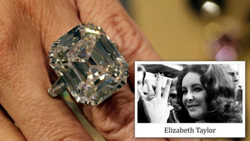 Elizabeth Taylor 14k White Gold 16x13MM Asscher Cut Diamond Engagement Ring