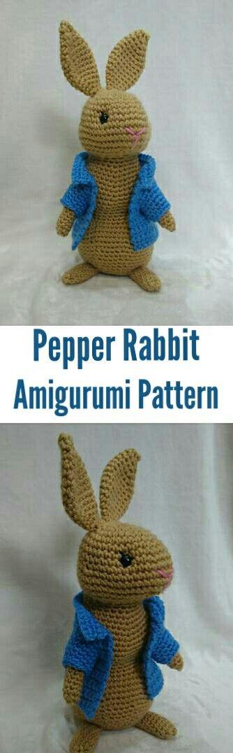 Pepper rabbit Amigurumi crochet pattern